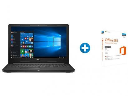 "Notebook Dell Inspiron i15-3567-A10 Intel Core i3 - 4GB 1TB LED 15,6"" +..."