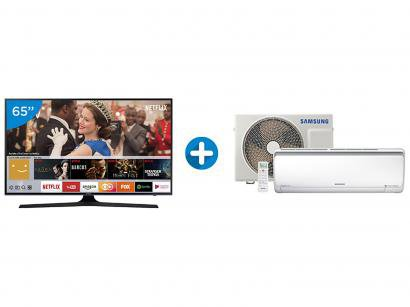 "Smart TV LED 65"" Samsung 4K/Ultra HD 65MU6100 - Tizen Conversor Digital +..."