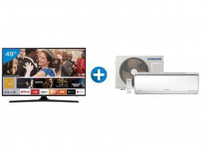 "Smart TV LED 49"" Samsung 4K/Ultra HD 49MU6100 - Tizen Conversor Digital +..."