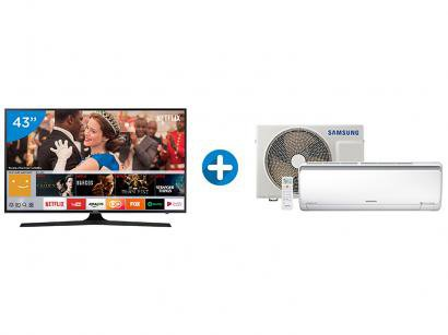 "Smart TV LED 43"" Samsung 4K/Ultra HD 43MU6100 - Tizen Conversor Digital +..."