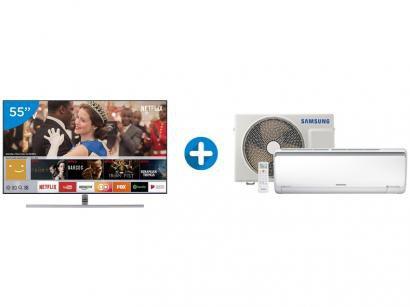 """Smart TV QLED 55"""" Samsung 4K/Ultra HD 55Q7FAM - Conversor Digital Wi-Fi + Ar..."""