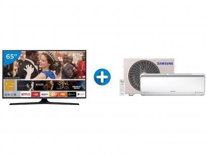 "Smart TV LED 65"" Samsung 4K/Ultra HD 65MU6100 - Tizen Conversor Digital + Ar..."