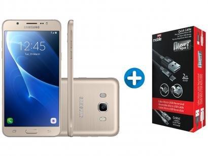 Smartphone Samsung Galaxy J7 Metal 16GB Dourado - Dual Chip 4G Câm 13MP + 2...