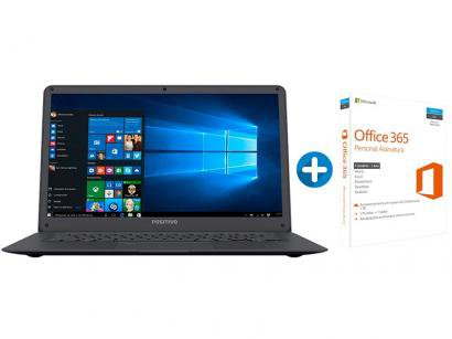 Notebook Positivo Motion Plus Q 432A - Intel Atom + Microsoft Office 365...