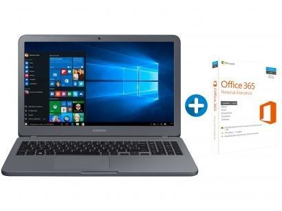"Notebook Samsung Essentials E30 Intel Core i3 4GB - 1TB LED 15,6"" + Microsoft..."