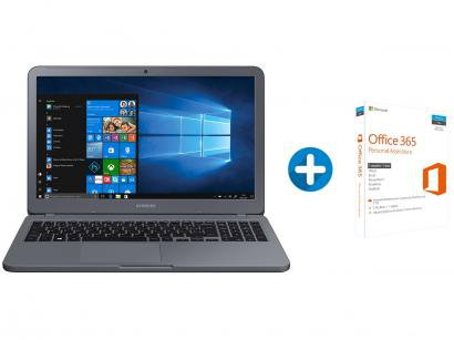 Notebook Samsung Essentials E20 Intel Dual Core - 4GB 500GB LED + Microsoft...