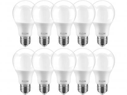 Kit Lâmpadas LED 10 Unidades 4,9W 6500K - Branco Frio Elgin Bulbo A55