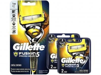 Kit Aparelho de Barbear Gillette Fusion - Proshield 2 Peças + 2 Lâminas de...