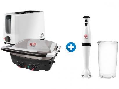 Grill/Sanduicheira MasterChef GR1001I - Inox 1600W + Torradeira + Mixer 110V