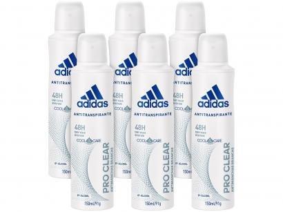 Desodorante Aerosol Antitranspirante Feminino - Adidas Pro Clear 150ml 6...