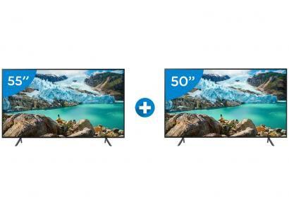 "Smart TV 4K LED 55"" Samsung UN55RU7100GXZD - Wi-Fi Conversor Digital + Smart TV..."