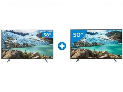 "Smart TV 4K LED 58"" Samsung UN58RU7100 - Wi-Fi HDR Conversor Digital + Smart TV..."