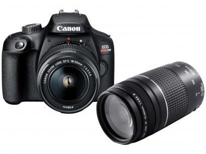 Câmera Digital Canon Semiprofissional - EOS Rebel T100 + Lente Zoom Telefoto...