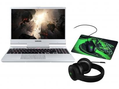 Notebook Gamer Samsung Odyssey Intel Core i7 - 16GB + Mouse e Mousepad Razer +...