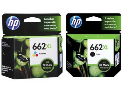 Cartucho de Tinta HP 662XL Colorido - Original + Cartucho de Tinta HP 662XL...
