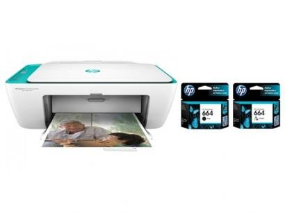 Impressora Multifuncional HP Deskjet Ink Advantage - 2676 + Cartucho de Tinta...