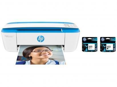 Impressora Multifuncional HP DeskJet Ink Advantage - 3776 + Cartucho de Tinta...