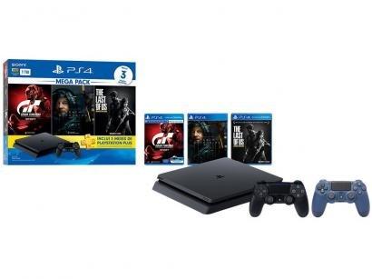 Playstation 4 1TB 1 Controle Sony com 3 Jogos - Plus 3 Meses + Controle sem Fio...