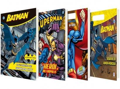 Kit Livros Superman + Super-homem em Ação! - Batman + Batman O Guardião de Gotham City