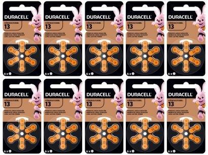 Kit com 60 Unidades de Pilha Auditiva 13 - Duracell