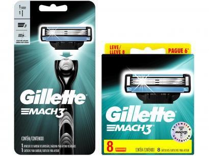 Kit com Aparelho de Barbear Gillette Mach3 - com Carga