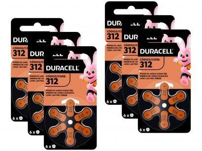 Kit com 36 Unidades de Pilha Auditiva 312 - Duracell