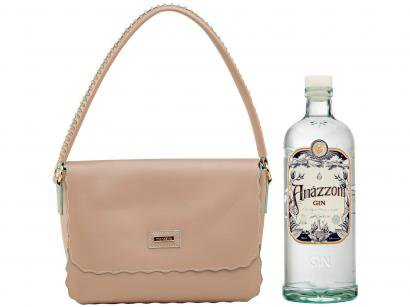 Bolsa Feminina de Ombro Casual Mondaine - Rosa + Gin Amázzoni Tradicional 750ml