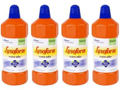 Kit Desinfetante Lysoform Bruto Suave Odor - 1L 4 Unidades
