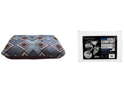 Cobertor Casal Microfibra Dyuri Outono - com Travesseiro Nasa Fibrasca Double...