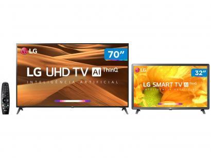 "Smart TV 4K LED 70"" LG 70UM7370PSA Wi-Fi - Inteligência Artificial + Smart TV..."