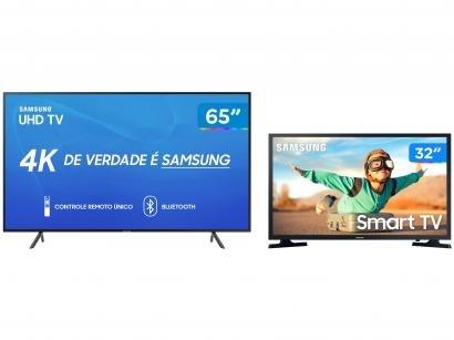 "Combo Smart TV 4K LED 65"" Samsung UN65RU7100 - Wi-Fi Bluetooth HDR 3 HDMI +..."