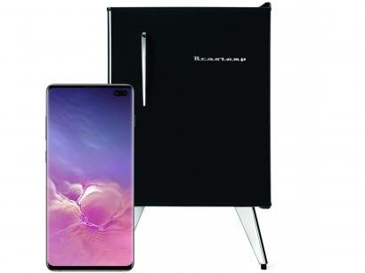 "Smartphone Samsung Galaxy S10+ 128GB Ceramic Black - 8GB RAM 6,4"" Câm...."