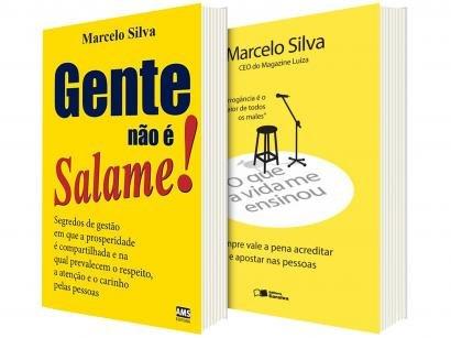 Kit Livros Gente Não é Salame! + O que a Vida Me - Ensinou Marcelo Silva