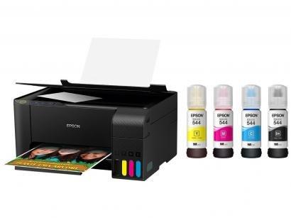 Impressora Multifuncional Epson EcoTank L3110 - Tanque de Tinta Colorida USB +...