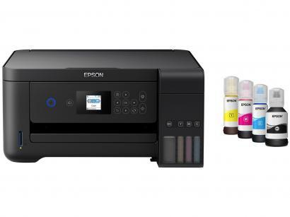 Impressora Multifuncional Epson EcoTank L4160 - Tanque de Tinta Colorido + 8...
