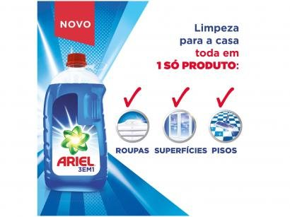 Detergente Líquido Multiuso Ariel 3 em 1 3L - 3 Unidades