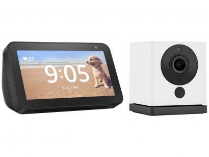Echo Show 5 3ª Geração Smart Speaker com Alexa - Amazon + Câmera Inteligente Wi-Fi Positivo
