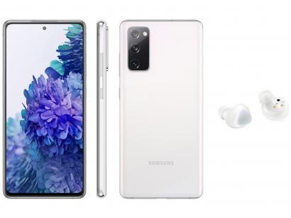 Smartphone Samsung Galaxy S20 FE 256GB Cloud White - 8GB RAM + Fone de Ouvido Bluetooth Galaxy Buds+