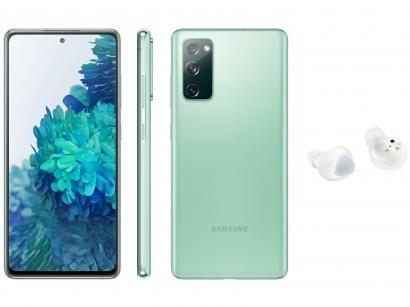 Smartphone Samsung Galaxy S20 FE 256GB Cloud Mint - 8GB RAM + Fone de Ouvido Bluetooth Galaxy Buds+