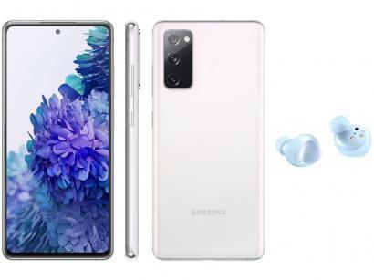 Smartphone Samsung Galaxy S20 FE 128GB Cloud White - 6GB RAM + Fone de Ouvido Bluetooth Galaxy Buds+