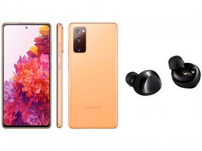 Smartphone Samsung Galaxy S20 FE 128GB Cloud - Orange + Fone de Ouvido Bluetooth Galaxy Buds+