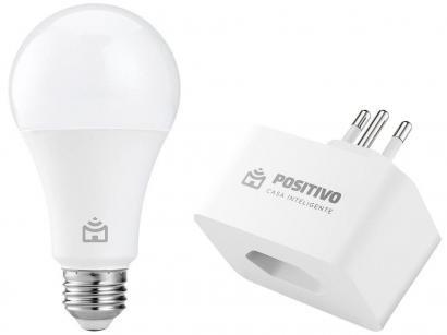 Tomada Inteligente Wi-Fi Positivo Smart Home - Smart Plug + Lâmpada Inteligente Positivo 9W