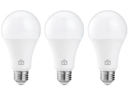 Kit Lâmpada Inteligente Positivo Home Smart - LED Wi-Fi 9W 3 Unidades