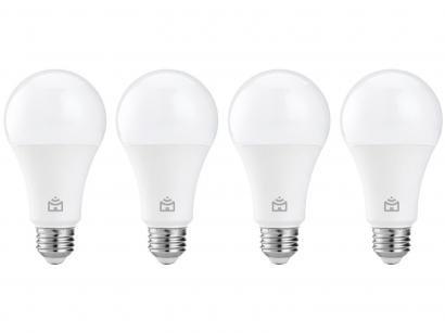 Kit Lâmpada Inteligente Positivo Home Smart - LED Wi-Fi 9W 4 Unidades