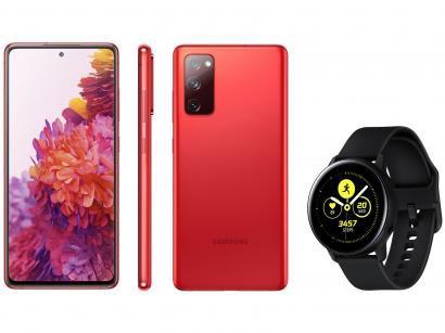 Smartphone Samsung Galaxy S20 FE 256GB - Cloud Red + Smartwatch Galaxy Watch Active