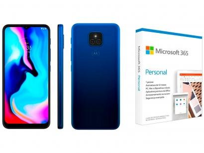 Smartphone Motorola Moto E7 Plus 64GB Azul Navy - 4G + Microsoft 365 Personal 1TB OneDrive