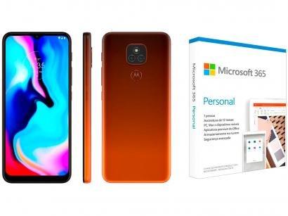 Smartphone Motorola Moto E7 Plus 64GB Bronze Âmbar - 4G + Microsoft 365 Personal 1TB OneDrive