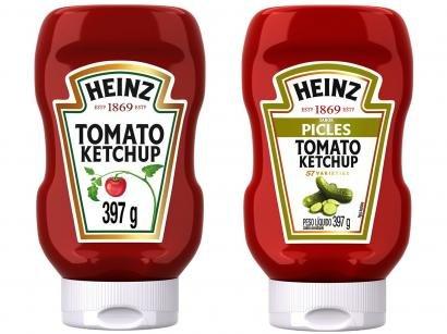 Kit Ketchup Heinz Picles 397g + Tradicional 397g