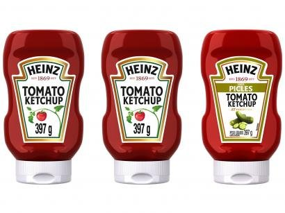 Kit Heinz Ketchup 397g Cada - 2 Unidades Tradicional + Picles