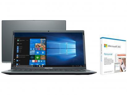 Notebook Positivo Motion Gray C4128E Intel Celeron - Dual-Core 128GB SSD + Microsoft 365 Personal